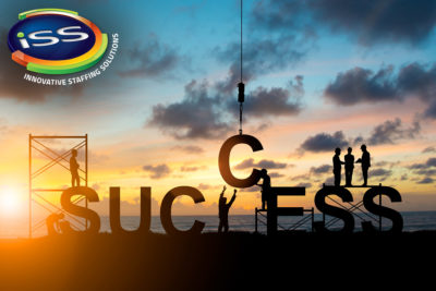 Silhouette's employees work as a team to work out successfully over blurred sky at sunset. Teamwork, success, Industry, Business, People, engineers, working in a systematic, concept.